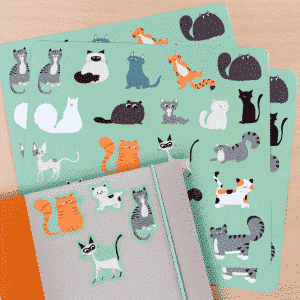 Stickers with cats - Nine lives