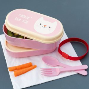Lunch box with cat - bento box
