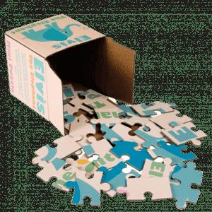 Mini Puzzle - Elvis The Elephant 24 pcs