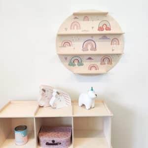 wall shelf with UV print